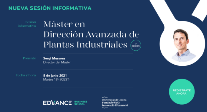 Sesión informativa Máster en Dirección Avanzada de Plantas Industriales